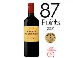 French Moulin riche petite winery buy online Red wine award merlot 2004